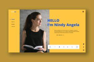 Hero Header - Personal Website
