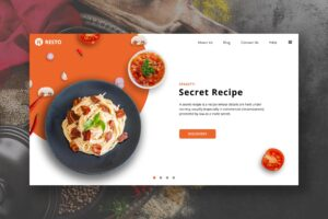 Food Resto - Secret Recipe Restaurant Hero Header