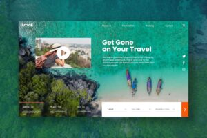 Hero Header - Travel Agency