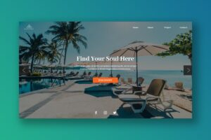 Hero Header - Tropical Resort