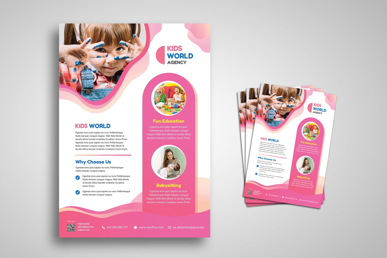 Kids World Flyer Template