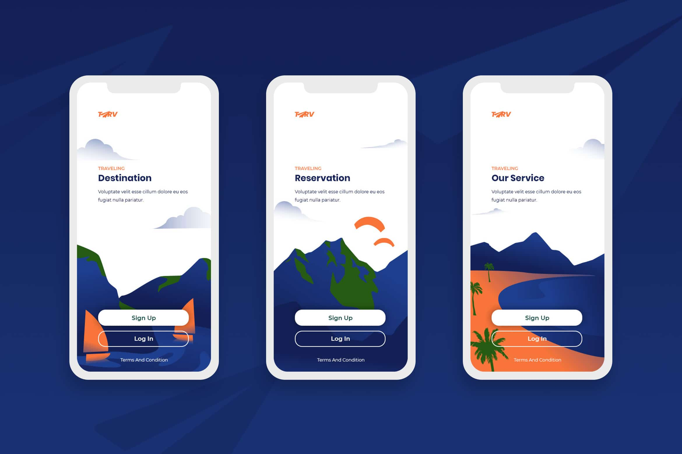 Onboarding Screens - Service & Reservation
