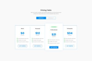 Pricing Table - Best Price Options