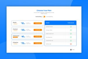 Pricing Table - Marketing Optimizer
