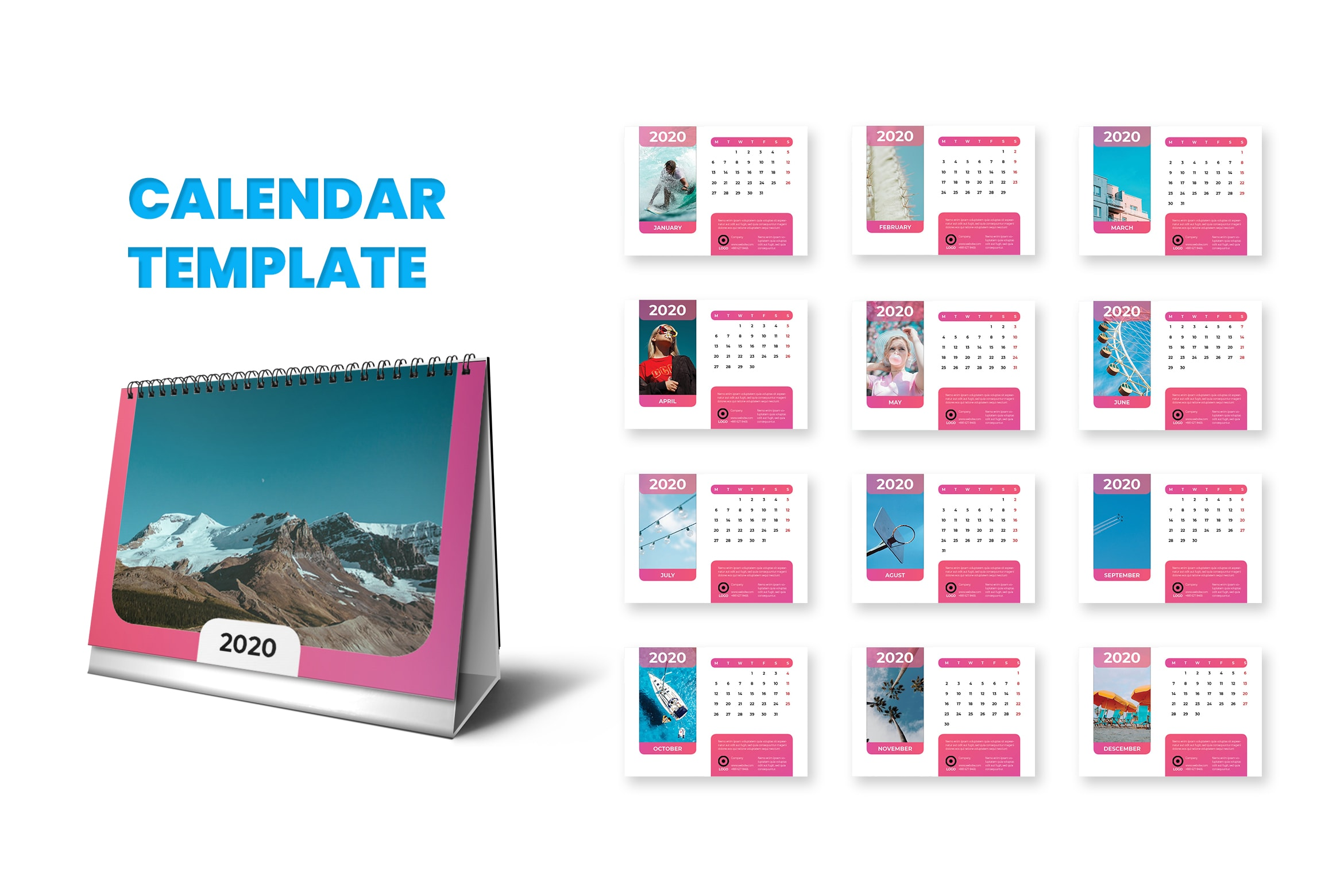 Calender - Millenial Style Template