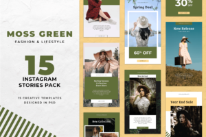 Instagram Stories - Green Fashion Theme