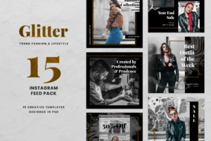 Instagram Banner - Glitter Fashion Theme