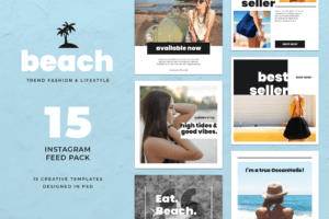 Instagram Banner - Beach Fashion Theme