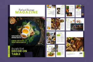 Magazine Template - Food & Beverage