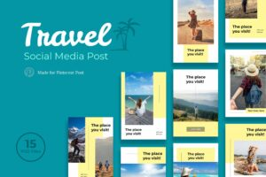 Pinterest Template - Travel Post