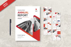 Annual Report - Red Theme 3