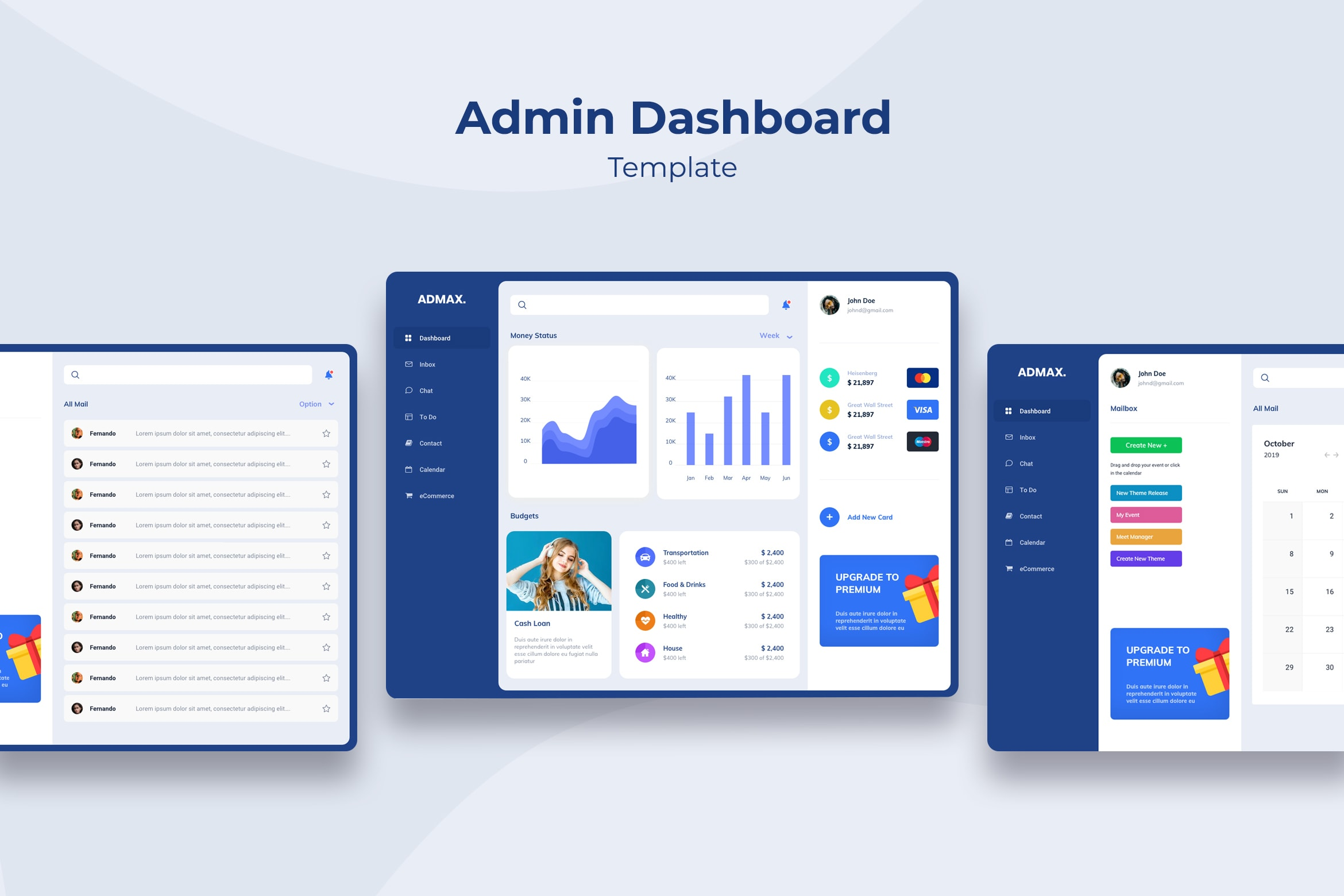 Admin Dashboard - Personal Financial Management