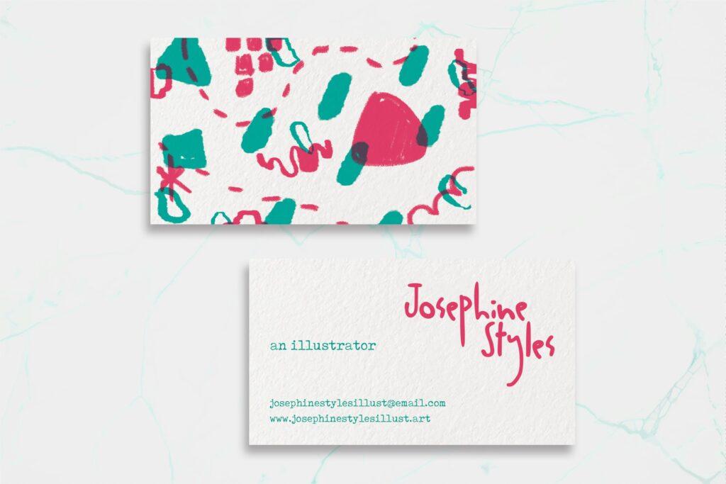 business card  illustrator name tag