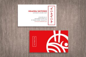 Business Card - Japanese Chef Identity