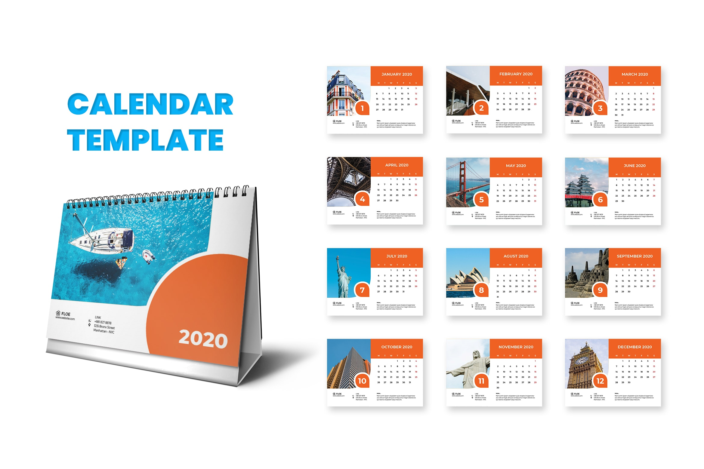 Calender - World Icon Template