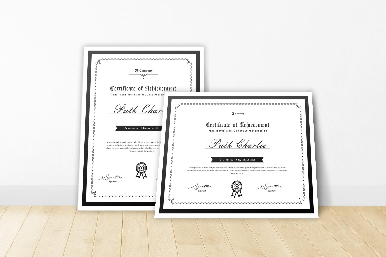 Certificate - Achievement Theme