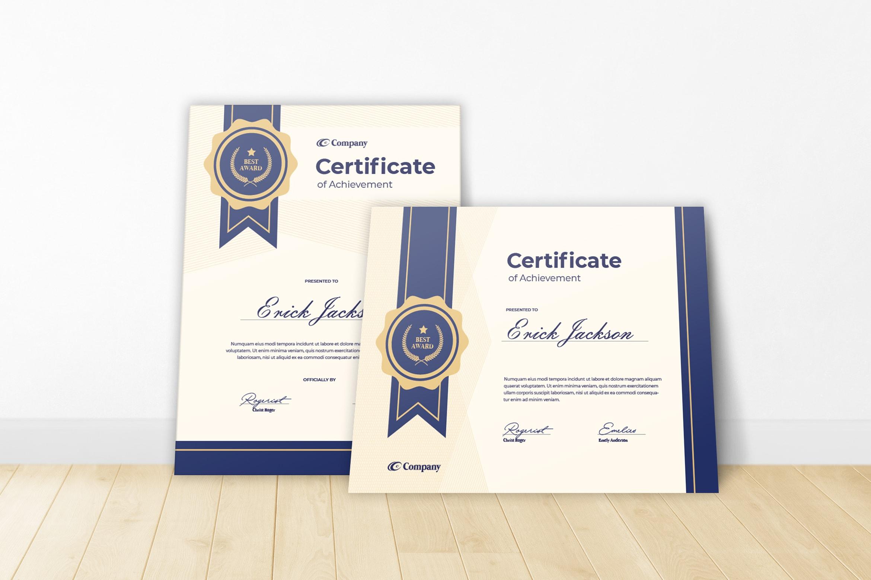 Certificate - Company Awards