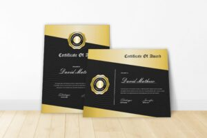 Certificate - Gold Awards