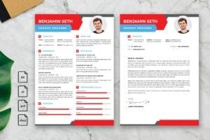 CV Resume – Graphic Designer Profile 17