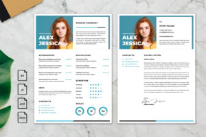 CV Resume – Graphic Designer Profile 21