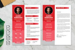 CV Resume – Graphic Designer Profile 23
