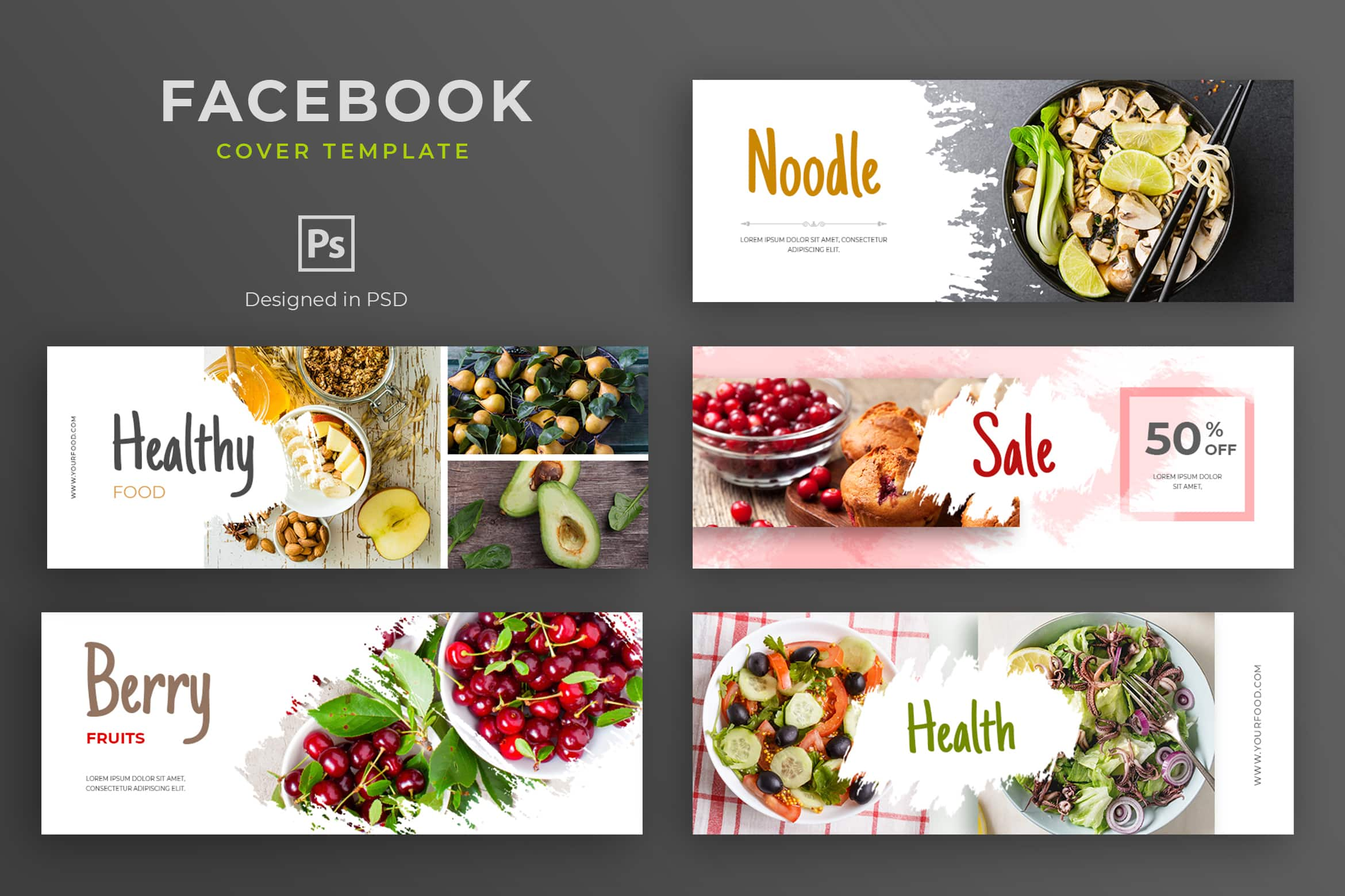 Facebook Cover - Fruits Healthy Sale