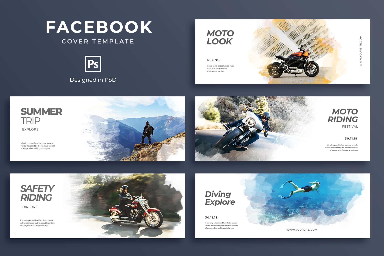 Facebook Cover - Moto Riding Trip
