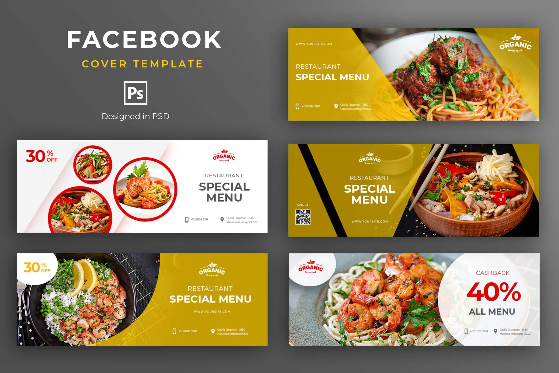 Facebook Cover - Restaurant Special Menu