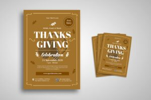 Flyer Template - Reception Thanksgiving
