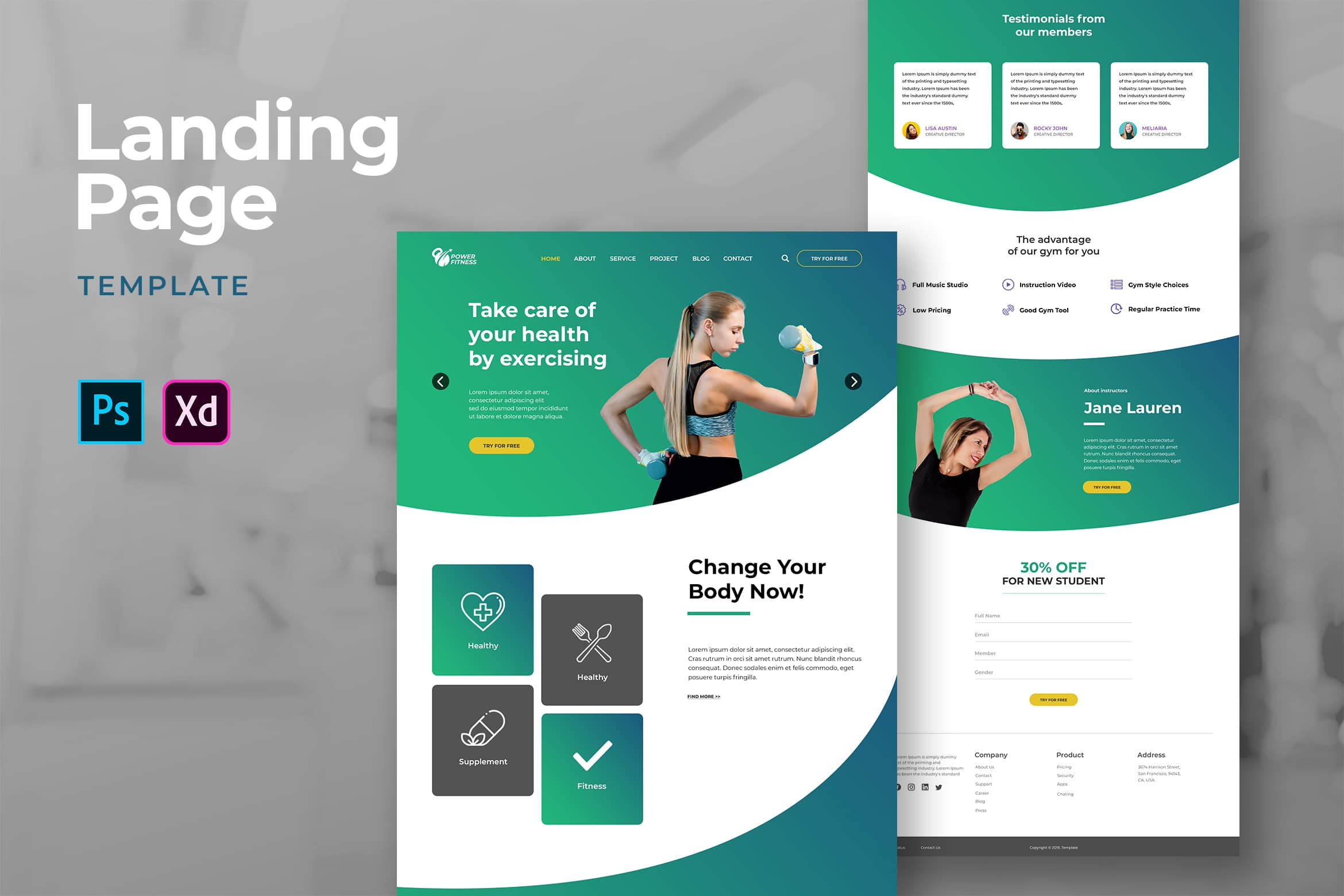 Landing Pages - Healthy Exercise