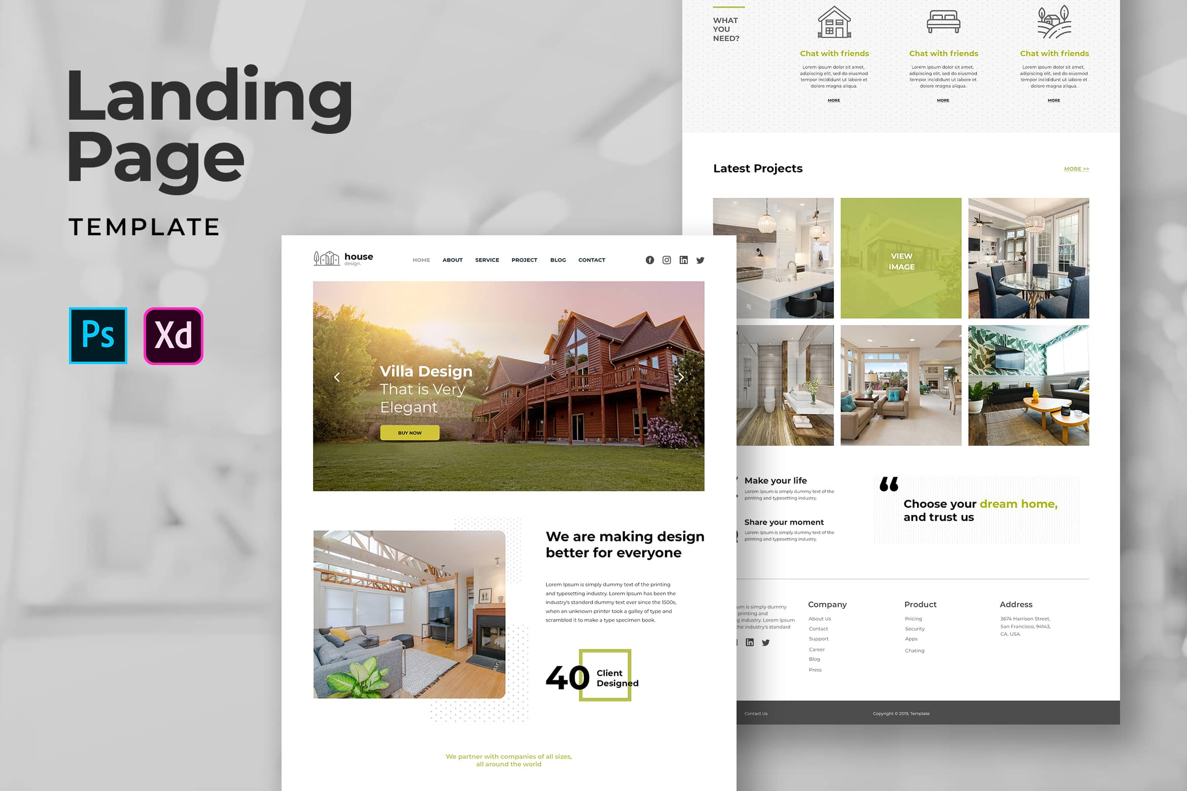 Landing Pages - Villa Decoration Services