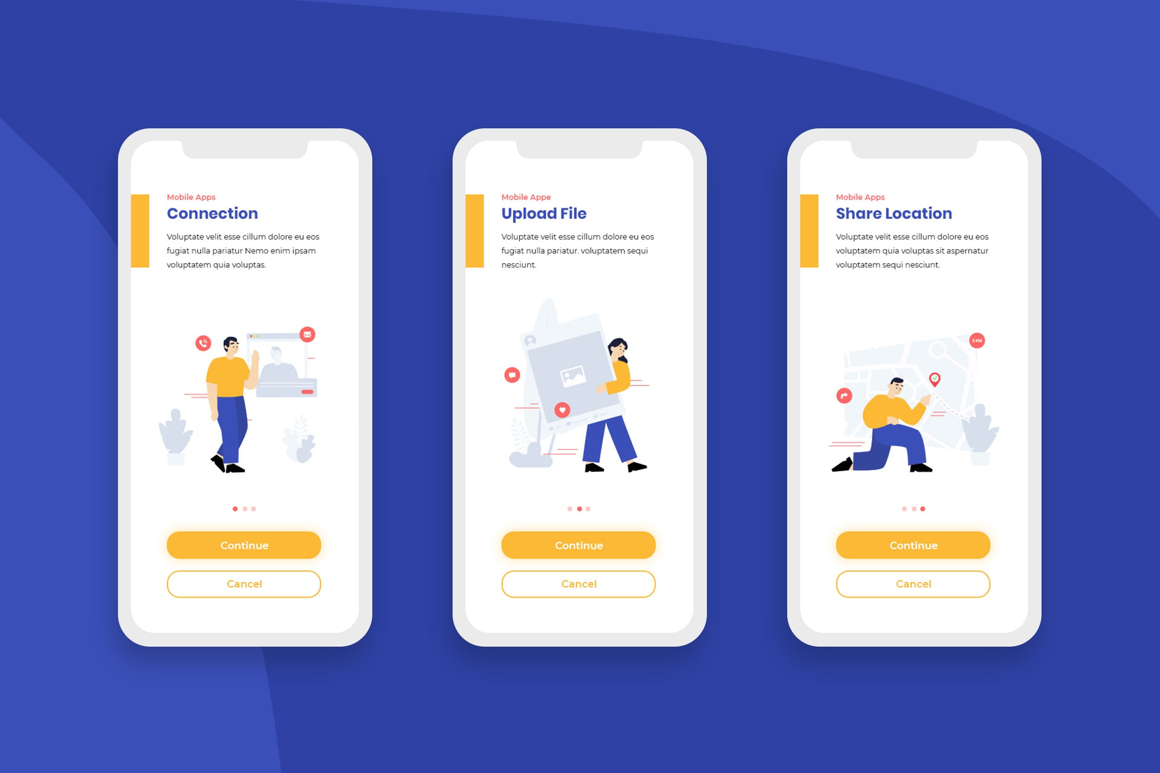 Onboarding Screens - File Connection Apps