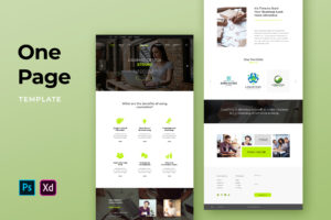 One Pages Template - Graphic Design Studio