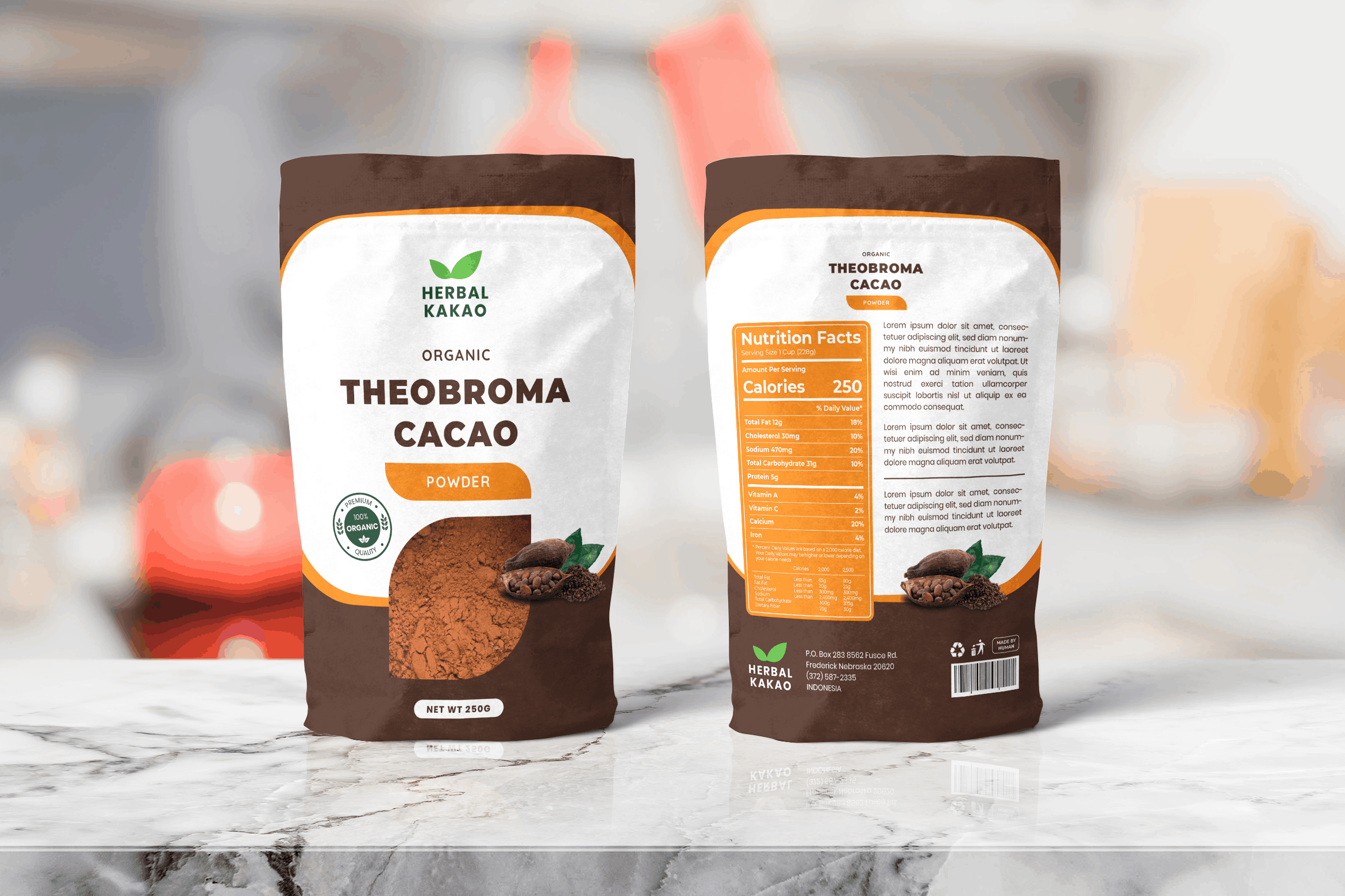 Packaging Template - Cacao Herbal