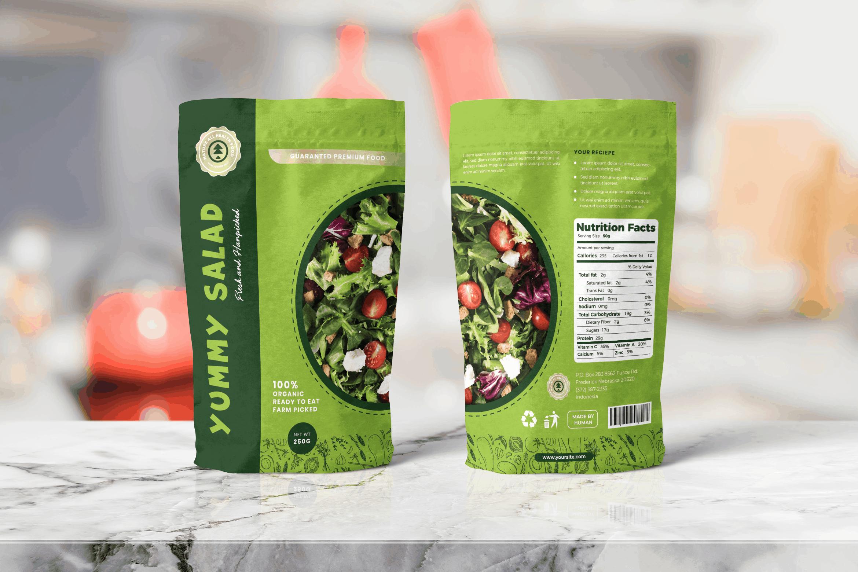 Packaging Template - Healthy Salad