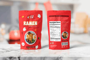 Packaging Template - Instant Spicy Ramen