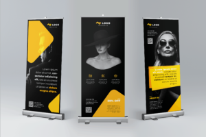 Roll Up Banner - Elegant Fashion Show