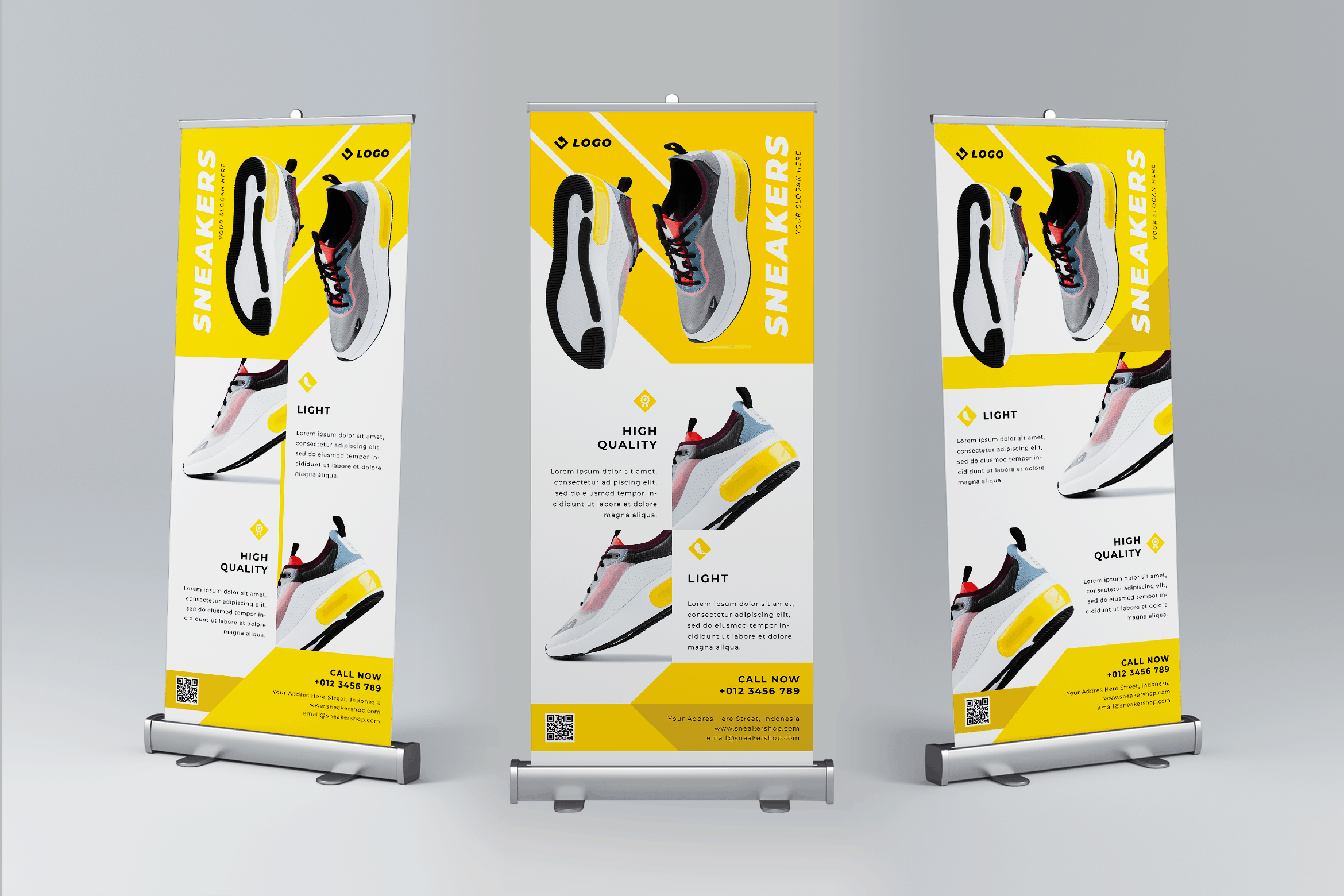 Roll Up Banner - Sneakers Shoes Premium
