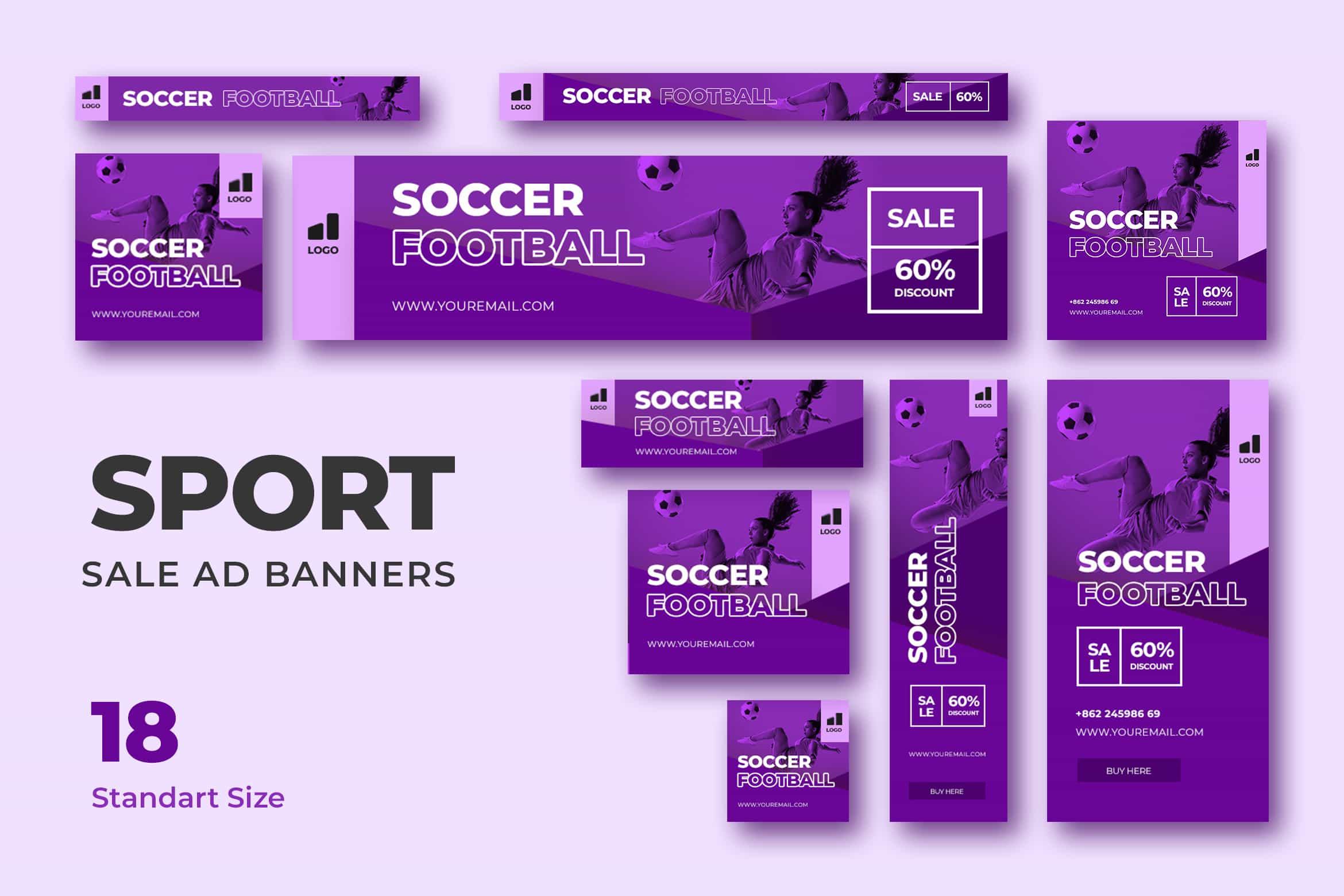 Web Banner - Football Advertisement