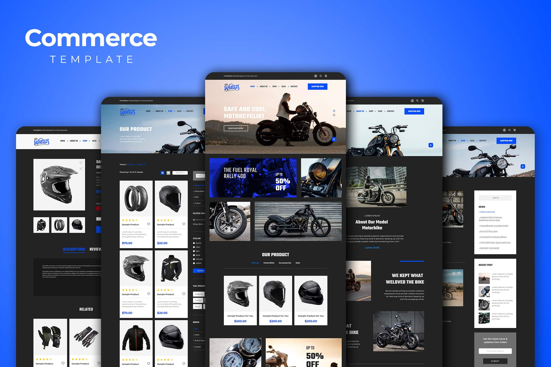 Web Commerce - Harley Motorbike Gear