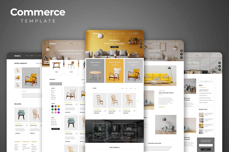 Web Commerce - Modern Interior Design