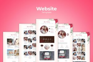Website Template - Wedding Stories