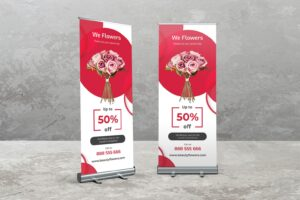 Roll Up Banner - Special Flower Shop