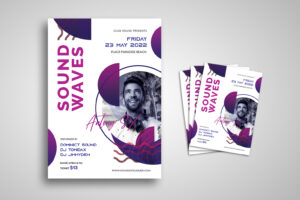 Flyer Template - Sound Waves House