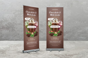 Roll Up Banner - Chocolate & Milkshake Drink