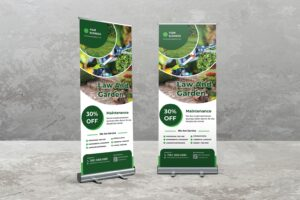 Roll Up Banner - Garden Maintanance