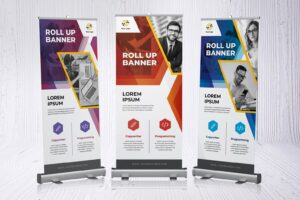 roll up banner programming copywriter services