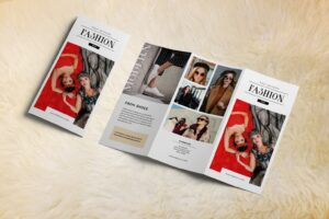 trifold brochure modern fashion