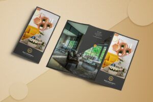 trifold brochure premium property