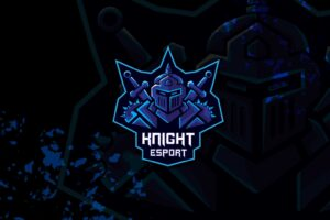 esport logo – blue knight